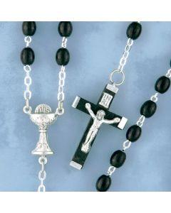 Rosary Black Wood Communion Center