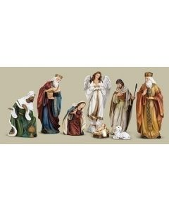 "8PC ST 8.75""NATIVITY W/ANGEL & LAMB"
