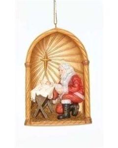 "Kneeling Santa Ornament 4"""