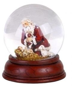 Kneeling Santa Glitterdome