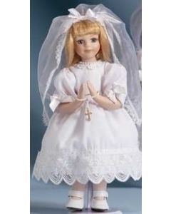 Blonde Communion Doll