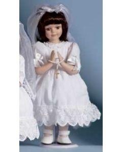 Brunette Communion Doll