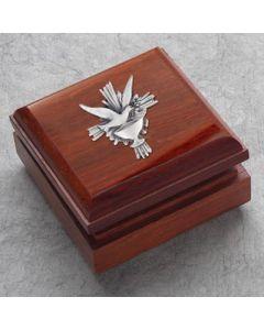 Rosewood Finish Hardwood Box with Holy Spirit