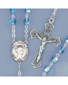 Sapphire Crystal Rosary