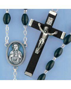 Black Coco Bead Rosary