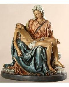 "Pieta, 10"" resin, color"