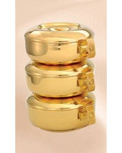 Ciboria 3pc. Set Gold Plate