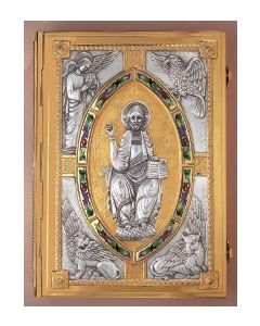 Book of the Gospel Cover Christ with four Evangelists