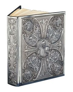Large Lectionary Cover Christ with Faces of 4 Evangelists