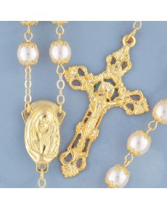 Glass Pearl Rosary