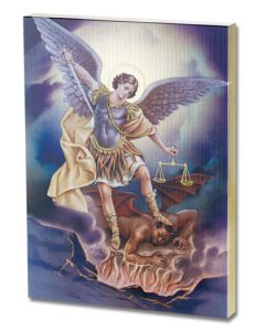 St Michael Gold Embossed Plaque