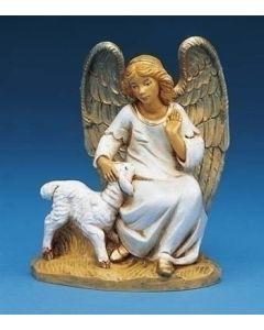 "Olivia, Angel with Lamb, 5"" Fontanini"