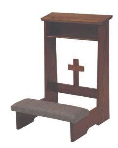 Kneeler/Prie Dieu Front Cross Design