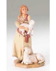 "Joan, Shepherdess, 5"" Fontanini"