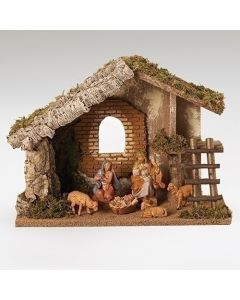 """6pc 5"""" Nativity with Stable"""