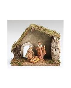 """5"""" 3pc Holy Family with Stable"""