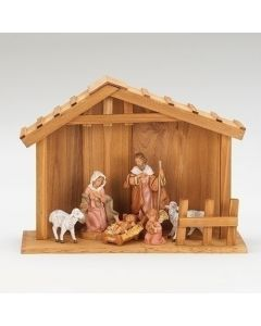 """My First Nativity 5"""" 6pc with Stable"""