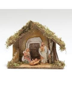 3-pc Nativity Set with Stable