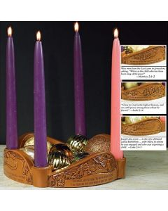 """Glory to God"" Advent Candleholder"