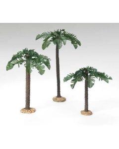 "3 pc set Palm Trees single trunk 5"" scale"