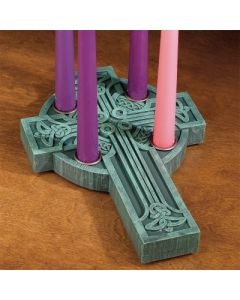 Celtic Cross Advent Candleholder