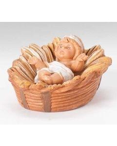 "Centennial Baby Jesus in Crib, 5"" Fontanini"