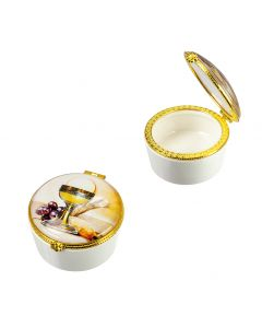 Communion Porcelain Rosary Box