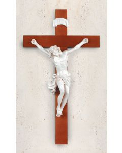 "22"" Cross with White Corpus"