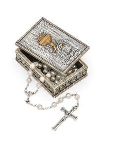 Communion Distressed Keepsake Box