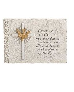 Confirmation Plaque with Dove