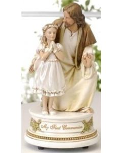 Jesus with Girl Musical Figure