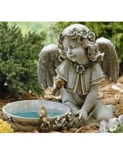 Angel Birdbath