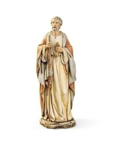 """St Peter with Keys Statue 10.5"""""""
