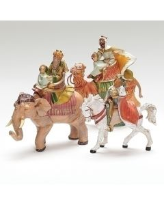 "Three Kings on Animals, 5"" Fontanini"