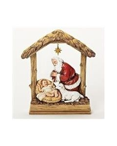 """Kneeling Santa figurine 8"""""""