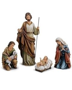Nativity, Holy Family with Shepherd 18""