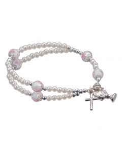White pearl Communion Bracelet