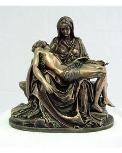 """Pieta 10"""" Statue, cold cast bronze"""