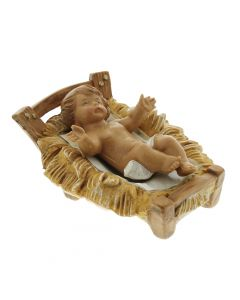"Classic Baby Jesus with Manger, 5"" Fontanini"