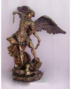 """St. Michael, Cold-Cast Bronze, 29"""""""