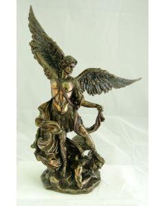 """St. Michael, Cold-Cast Bronze, 10"""", statue"""
