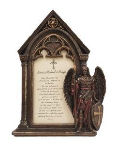 St Michael frame with prayer
