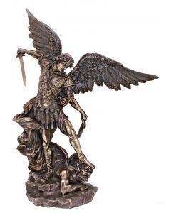 """St Michael 21"""" cold cast bronze"""