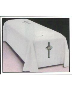 Pall Off-White with Celtic Cross