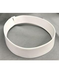 White Fabric Collar 2 Ply