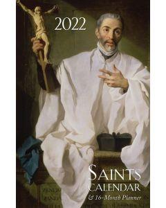 2022 Saints Calendar & 16 Month Daily Planner Spiral Bound