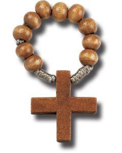 Wood Bead One Decade Rosary