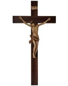 Walnut Crucifix with Resin Corpus. 33""