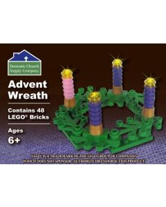 Advent Wreath with LEGO Bricks