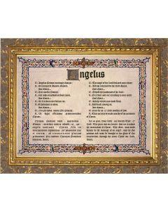 Latin-English Angelus Gold Framed Art